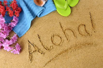 Aloha beach background