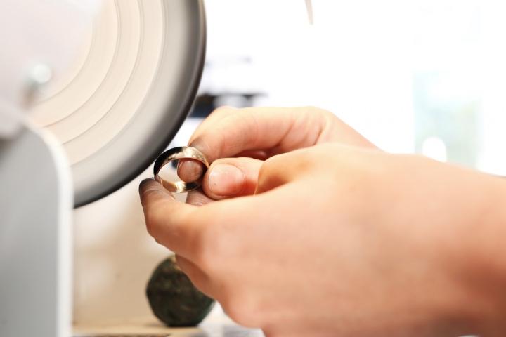 指輪制作の写真